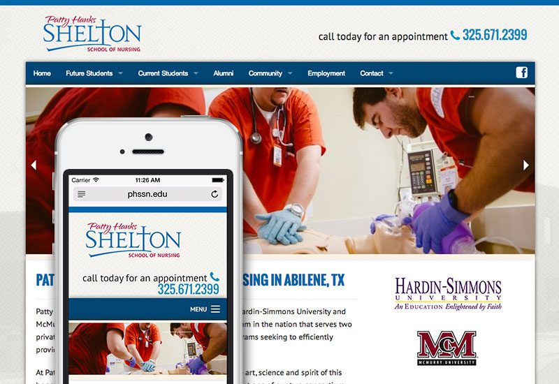 Patty Hanks Shelton School of Nursing Website Design and Development