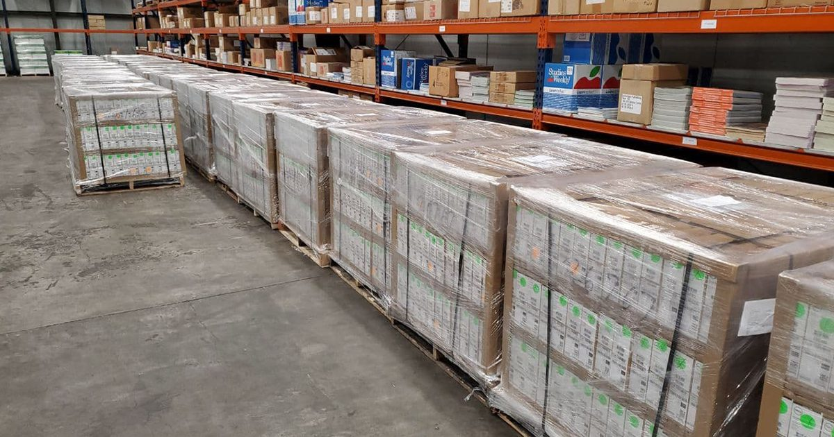 pallets of Chromebooks to be distributed at NISD