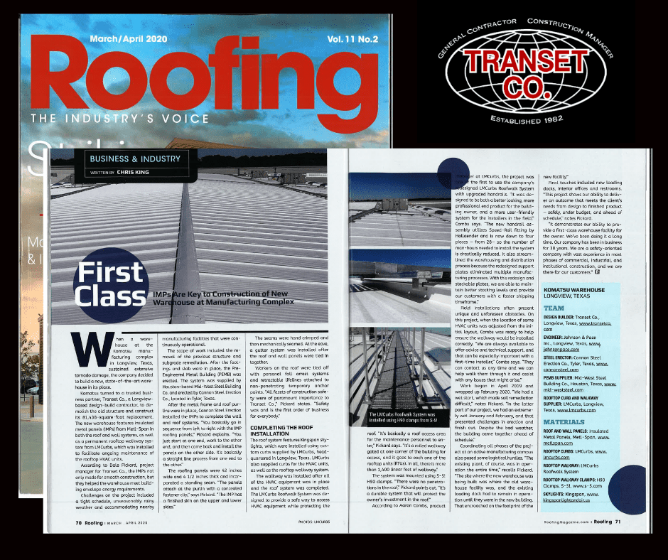 Check us out in the latest edition of Roofing Magazine