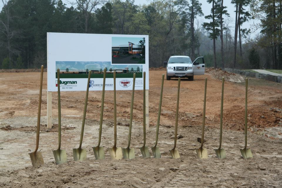 ground breaking day with golden shovels