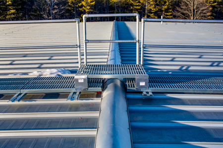 LMCurbs Roofwalk System 36inch Handrail Stepover